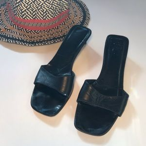 Coach Leather Slide Sandals in Black 8 M